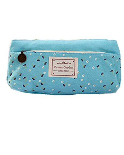 SAMGU Flower Toile Pen Pencil Case Maquillage Cosmetic Coin Pouch Zipper Bag Color Hasard