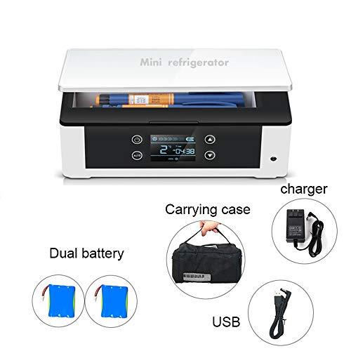 Portable Insulin Kühlbox Hohe Kapazität Mini Medizin Kühlung 2-18 ° C gekühlte Box für Diabetiker für Auto,Reise,Hause Box für Medikamente 240 * 120 * 80