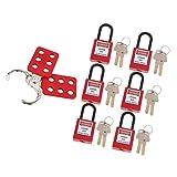 Lucchetto di Isolamento Del Morsetto Del Kit di Etichettatura Hasp con Chiusura a Scatto Master Lock