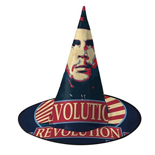 OJIPASD Che Guevara Revolution Sombrero de Bruja Unisex Disfraz para Vacaciones, Halloween, Navidad, Carnaval, Fiesta
