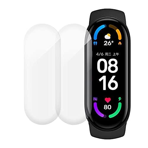 2X Película Premium Para Relogio Mi Band 6 Flexível Gel resistente à água