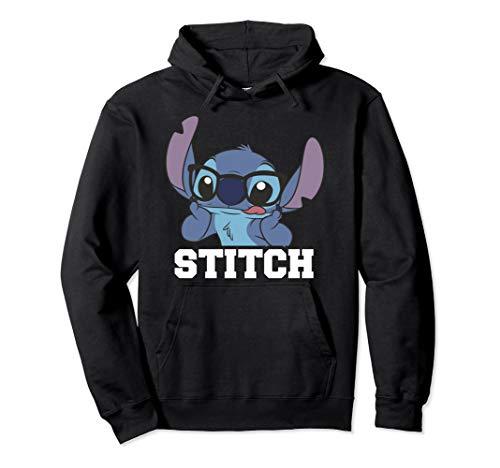 Disney Lilo & Stitch Glasses Stitch Portrait Pullover Hoodie