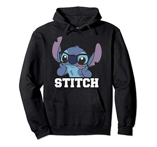 Disney Lilo & Stitch Glasses Stitch Portrait Pullover Hoodie