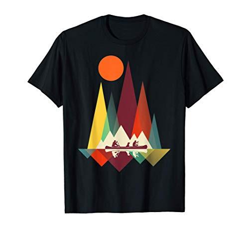 Geometría de montaña mínima Senderismo al aire libre Camping Camiseta