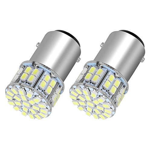 XIAOYAFANG HXFANG 2pcs 6000K Blanca 1157 50SMD Cola del Freno LED Enciende la Bombilla 12V bay15d
