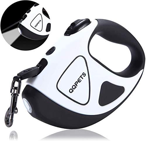 CeMieux Hundeleine LED für kleine und mittlere Hunde, Hundeleinen Einziehbare mit Taschenlampe, Einfachem Einknopf-Brems- und Verriegelung Sicherheitssystem, Ergonomischer Handgriff, 3M Ausziehbar