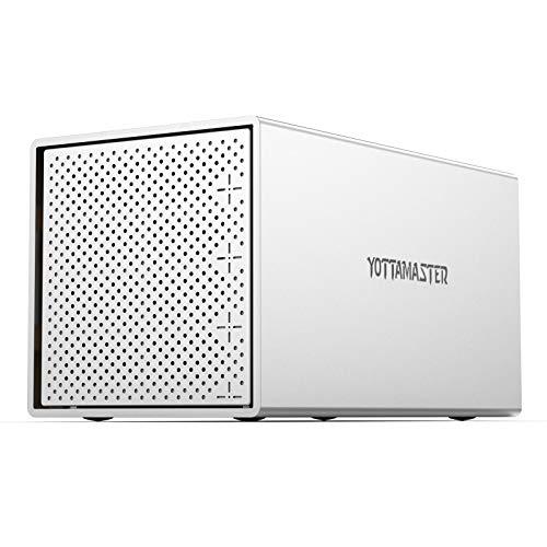 """Yottamaster 4 Bahías Aluminio Caja para Disco Duro de 2.5""""/3.5"""" SATA HDD/SSD, Tipo C Externo Carcasa para Disco Duro con Ventilador de 80mm"""