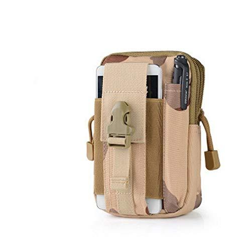 DWSLY De múltiples Fines Camo Imprimir Tactical Molle Bolsos Bolsos Cinturón Cintura Mochila Militar Escuela Militar Paquete Bolsas al Aire Libre para Escalada al Aire Libre (Color : 6)