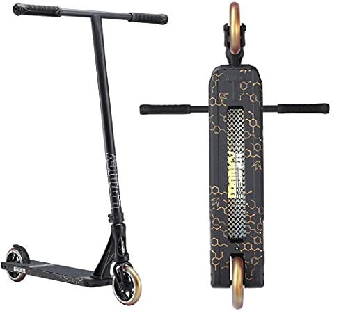 Patinete Blunt Prodigy S8 Street Stunt H=90 120 mm 3,88 kg + pegatina Fantic26 Negro/Oro