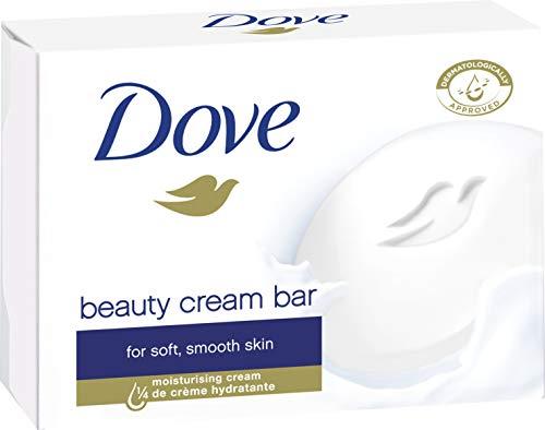 Dove Waschstück Beauty Cream Bar Original für die tägliche Anwendung mit 1/4 Feuchtigkeitscreme und milden Reinigungssubstanzen, 1er Pack(1 x 100 g)
