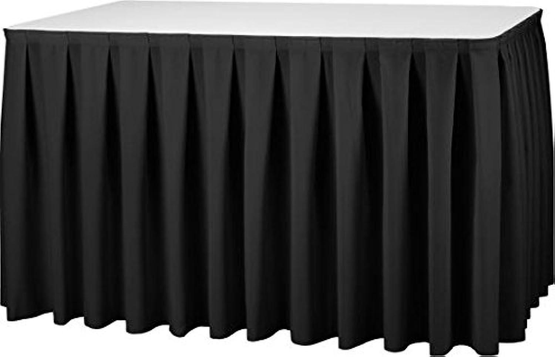 Gastro Uzal Skirting Kellerfalte in schwarz 410 x x x 73 cm Skirtings für Tische, Büffet Skirting Tablerock B07354K6C1 4f3944