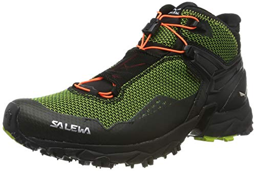 Salewa Herren MS ULTRA FLEX MID GTX Traillaufschuhe, Grün (Cactus/Fluo Orange 5326), 42 EU