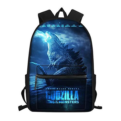 GOSTONG 15.7 Inch God-zilla Multifunctional Backpack 3D Monster Design School Bag Gift for Boys Kids Bookbag