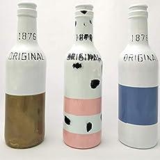 Botellas con suerte - Malibu Botella Decorativa Reciclada con ...