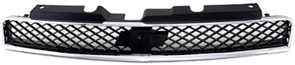 CarPartsDepot, Front Grille Grill Assembly Chrome Outer Frame Black Mesh Insert, 400-151133 GM1200551 10333710