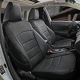 EKR Custom Fit Full Set Car Seat Covers for Select Toyota RAV4 Hybrid (Non XSE) 2019 2020 2021- Leatherette (Black)