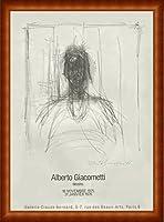 ポスター アルベルト ジャコメッティ Galerie Claude Bernard 1975 額装品 ウッドハイグレードフレーム(ナチュラル)