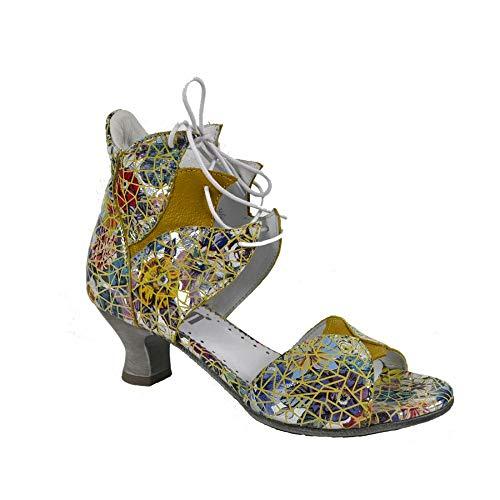 Simen Damen Schaftsandalen Leder Sandaletten Schuh Schaft Pumps Schuhgröße 37