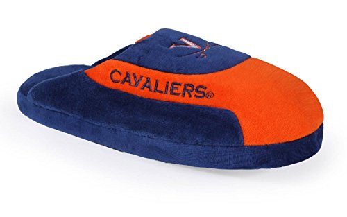 VIR07-1 - Virginia Cavaliers - Small - Happy Feet & Comfy Feet NCAA Low Pro Slippers