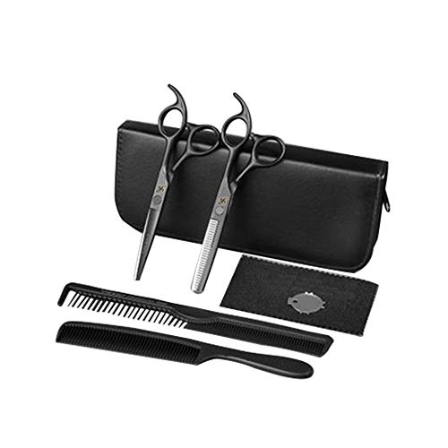 ROSEWARD Japanese Steel Professional Haircutting Scissors Kit, Barber Thinning Shears, Texturizing, Hairdressing Trimming Set, Tijeras de Peluqueria Profesional