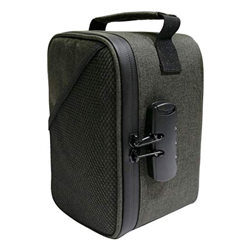 Smell Proof Bag - Quality Odor Smell Proof Carbon Lined Storage Bag, Travel Case & Pouch - Eliminates and Traps Odor, Smell, Stink, Scent, Keep Herbs Tea & Goods Fresh - Secured combination lock