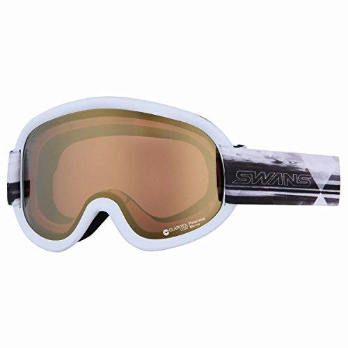 SWANS(スワンズ) ゴーグル スキー スノーボード 偏光レンズ ミラー ブイフォー V4-MPDH-C-LI MAW マットホ...