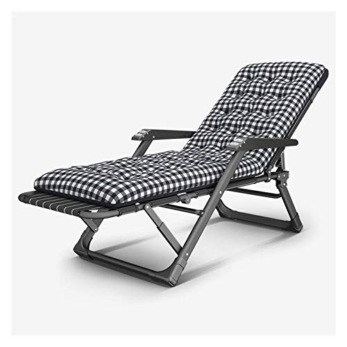Metal Sun Lounger, Folding Sunbed, Recliner Garden Chair Static Load, Rust-Resistant, Outdoor Furniture For The Beach Pool Outdoor Patio Camping Feet Steel
