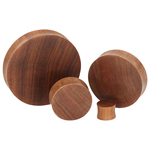 Elementals Organics Saba Solid Wood Plugs for Ear - Smooth Wooden Ear Gauge, 32mm, 1-1/4 Inch, Price Per 1 Earring