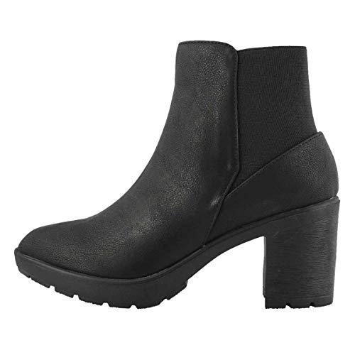 Matt & Nat Women's Montroyal Vegan Ankle Boot Black 38 Medium EU