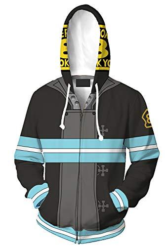 Shinra Kusakabe Cosplay Costume Hoodie