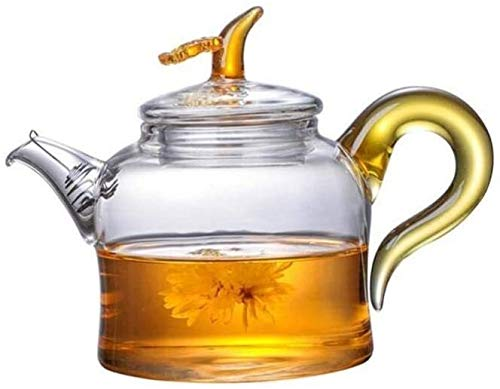 Bouilloire Pratique Thé de épaissié Ensemble de théière épaissie Théière à Haute température Résistant à la température Tea Tea Home Bureau Exquisite Fleur UOMUN (Color : Transparent)