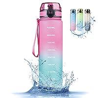 【 Material Tritan sin BPA 】: las botellas de plástico tienen la ventaja de que a menudo son muy ligeras. Por lo tanto, son ideales como botellas de agua para el deporte o para senderismo. Los modelos de Tritan son extremadamente robustos y soportan i...