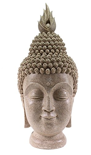 We pay your sales tax Smiling Meditating Buddha Shakyamuni Head Statue Large 15' Tall Blessing Mercy & Love G16274