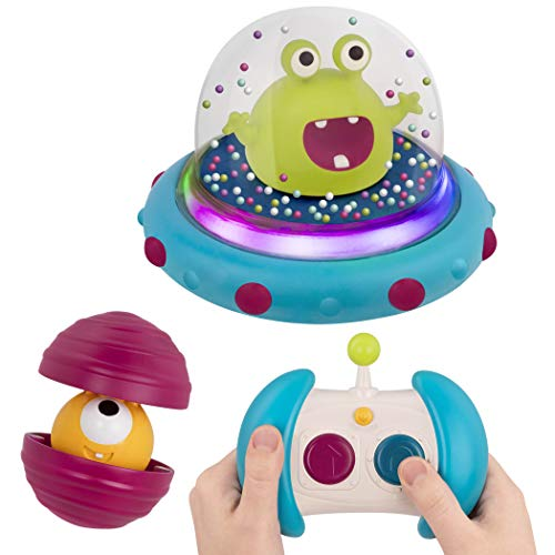 B. Toys – Bumper Space Car Marky Mars-Light-Up Simple Remote Control Car for Toddlers with Alien Driver