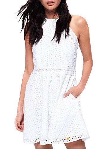 Superdry Vestido Teagan Blanco Mujer