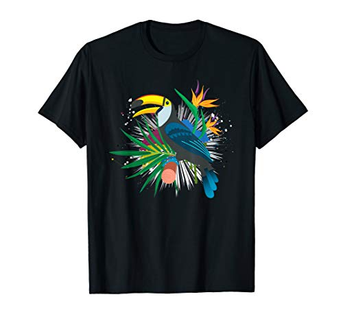 Tropical Toucan Bird Ornithologist Zoo Keeper Toucan T-Shirt