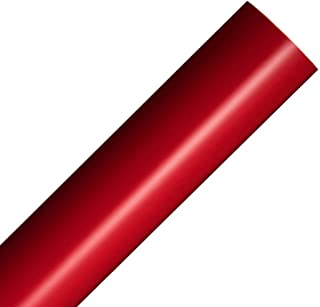 Rollo de vinilo reposicionable rojo mate 30x300cm Película autoadhesiva artesanal para plotters de corte