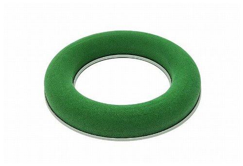 MOSY Ringschale 15 cm. mit Plastikunterl. Blumensteckschaum-Ring, Nasssteckschaum, Blumen-Deko, Tisch-Gestecke, Blumenschmuck