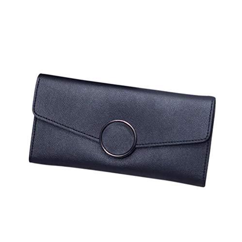 Yhhzw Cartera Larga Simple De Color Sólido para Mujer Carteras para Mujer Precio De PU Monedero para Mujer Tamaño 19 × 2 × 10Cm