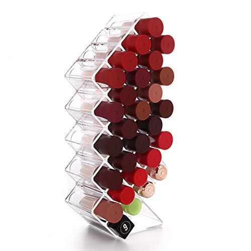 Lippenstift Organisator Kosmetische Aufbewahrungsbox Veranstalter Fisch Form Lip Glaze Storage Stand Holder Lippenstift-Halter-Lipgloss-Speicher-Turm Für 28 Lippenstifte