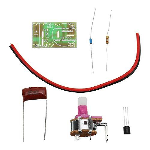 SHANG-JUN Fácil de Montar DIY silicio controlado Mediante Interruptor atenuador de lámpara Carpeta electrónica del módulo de Interruptor del Kit 10pcs Conveniente