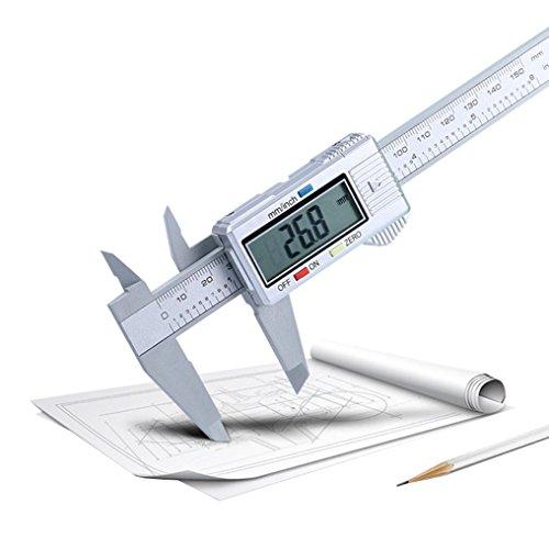 STRIR 150 mm / 6 pulgadas LCD Digital de fibra de carbono Vernier Caliper Gauge Micrómetro