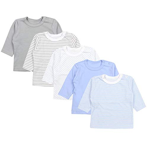 TupTam Baby Jungen Langarmshirt 5er Pack, Farbe: Farbenmix 2, Größe: 74