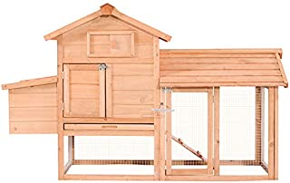 Lovupet Outdoor Wooden Chicken Coop Nest Box Hen House Poultry Pet Hutch Garden Backyard Cage 0313(Chicken Coop#2)