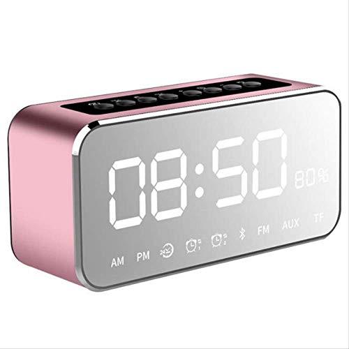 Duyifan Draagbare Mp3 Speler Spiegel Led Stereo Speakers Bluetooth Speaker Met Fm Radio Tijd Alarm Klok