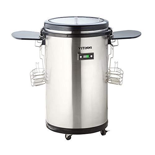 Vitinni Tragbarer Mini-Kühlschrank, Party-Kühler | 50 l Getränkeaufbewahrung | 0 °C bis 16 °C | Perfekt für Outdoor, Grillen, Partys und Picknicks