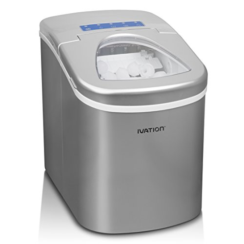 Ivation Portable Ice Maker w/Easy-Touch Buttons for Digital Operation - 2 Selectable Cube Sizes -...