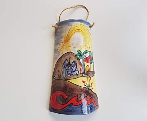 Tegola decorativa di ceramica siciliana dipinta a mano Le ceramiche di Ketty Messina.