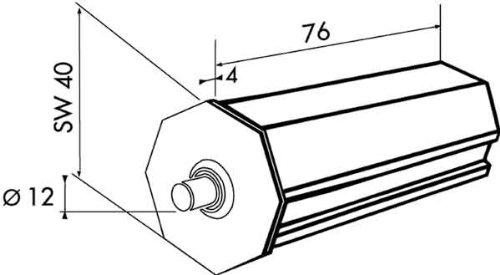 Rademacher 3333 Kunststoffkapsel für Sw40, D 12 mm, L 76 mm