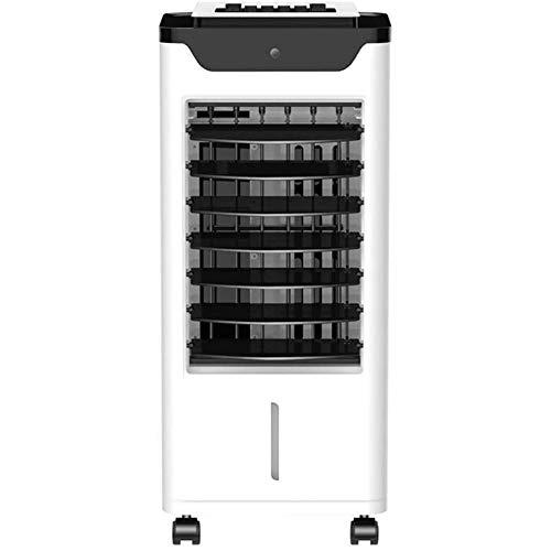 Wedgur Tragbarer Luftkühler, Verdunstungsluftkühler der mobilen Klimaanlage, Lüfter der Tischklimaanlage, 3 Jalousien, Oszillationsfunktion, Luftreiniger, 4-Liter-Wassertank, tragbarer 3-Gang-Lüfter